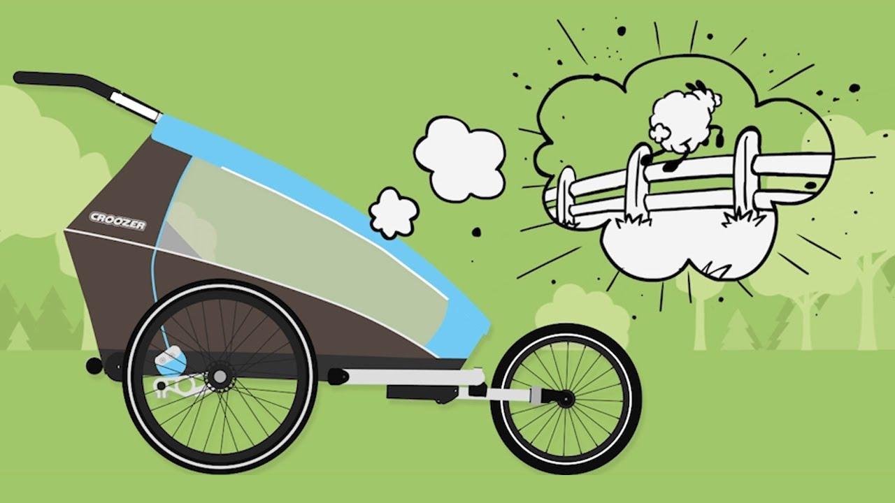 Fahrradanhänger mit einzigartiger AirPad Federung | Croozer®